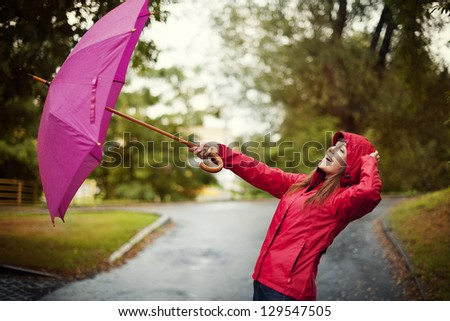 Windy Day - stock photo