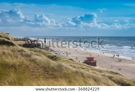 Windy day at the beach, Sylt - stock photo