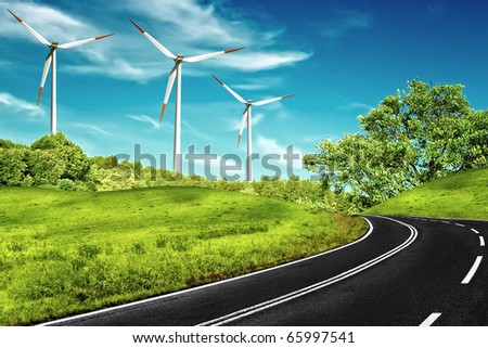 Windy Road - stock photo