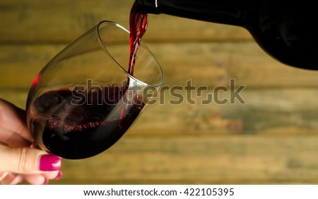 wine - stock photo