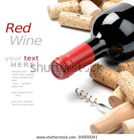 Wine and corks - stock photo