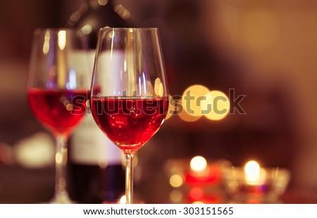 Wine and dine.  - stock photo
