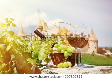 Wine and grapes. Chateau de Aigle, Switzerland