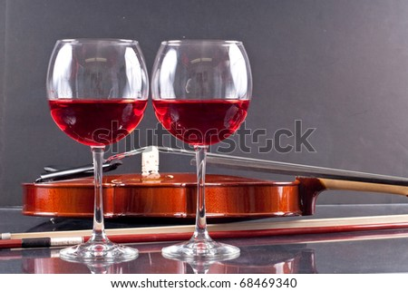 Wine and Music Conceptual Image