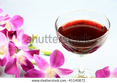 wine and orchid