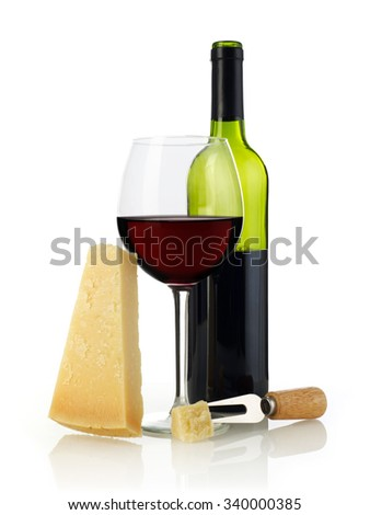 Wine and parmesan cheese
