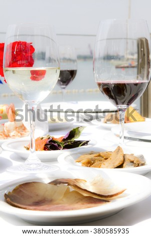 wine and seafood restaurant