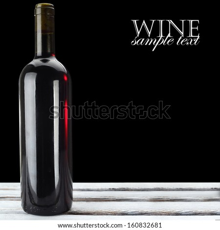wine and space for text  - stock photo