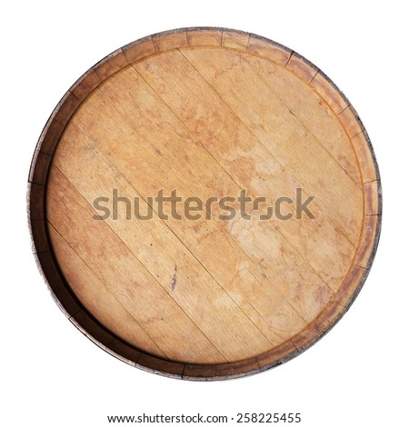 wine barrel isolated on white.