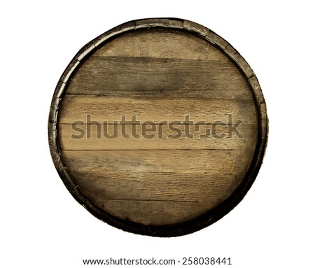 Wine barrel isolated on white background - stock photo