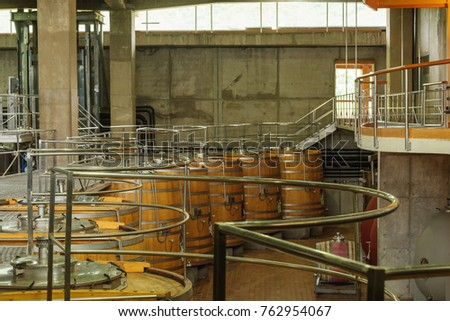 stacked oak wine barrels. Wine Barrels Winery Stacked Oak Stock Photo 762954067 - Shutterstock