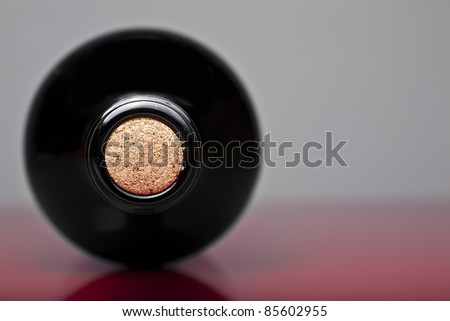 Wine botlle and cork - stock photo