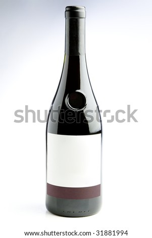 wine bottle - stock photo