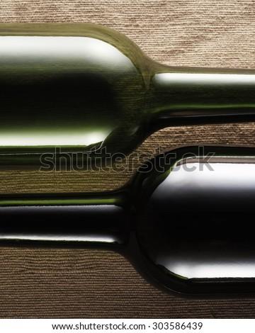 wine bottle abstract - stock photo