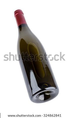 Wine bottle bottom angle Isolated. - stock photo