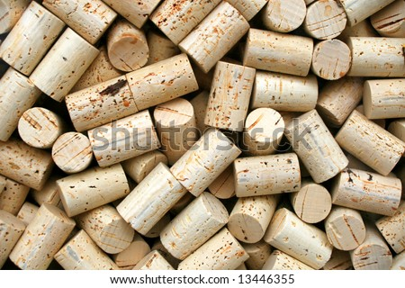 Wine bottle corks for making wine - stock photo