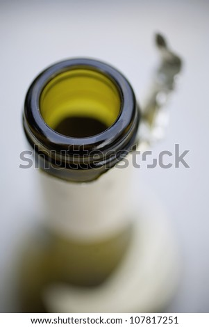 Wine bottle neck - stock photo