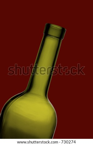 wine bottle neck against bordeaux background