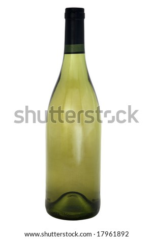 Wine bottle, standing upright, vertical
