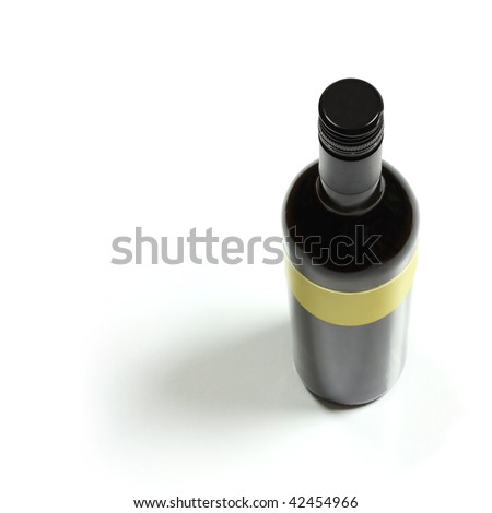 wine bottle top view - stock photo