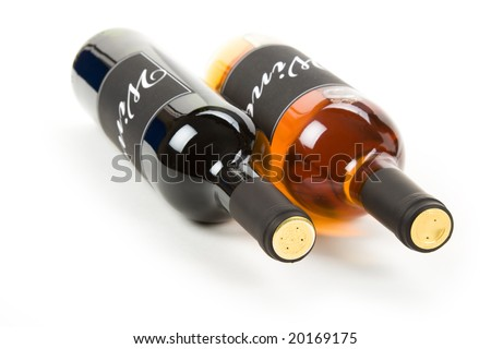 Wine Bottle with white background