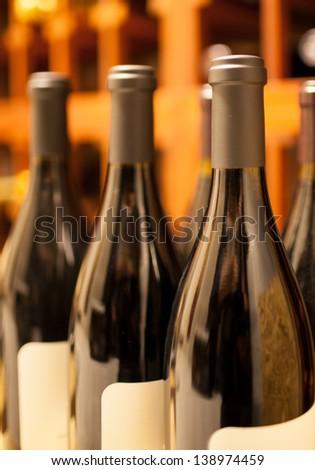 Wine bottles - stock photo