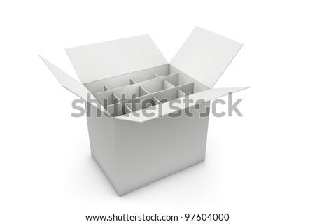 Wine box - stock photo