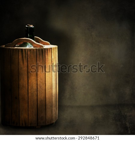Wine buttles - stock photo