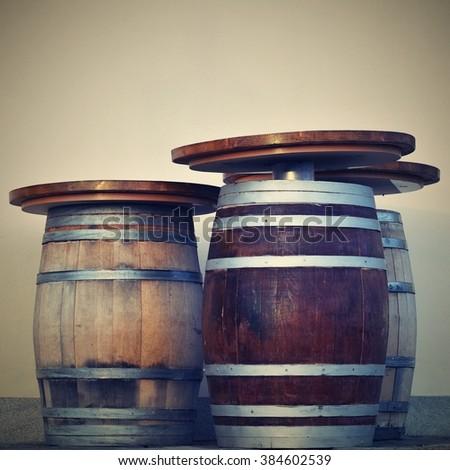 Wine casks - stock photo