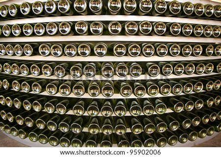 Wine Cellar Texture - stock photo