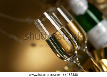 Wine. Champagne - stock photo