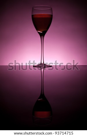 Wine collection - Red wine in glass.