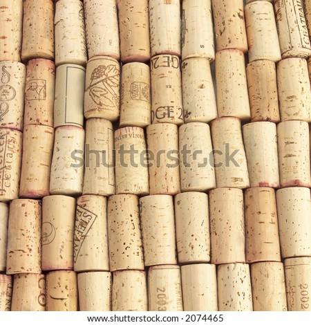 Wine cork background - stock photo