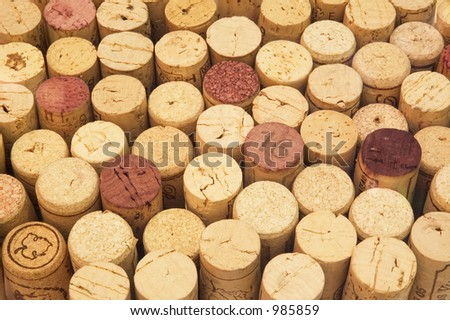wine cork background - stock photo
