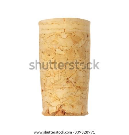 wine cork isolated on white background - stock photo