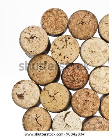 Wine cork on white background - stock photo