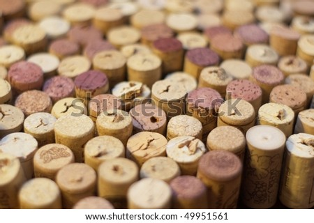 Wine corks abstract