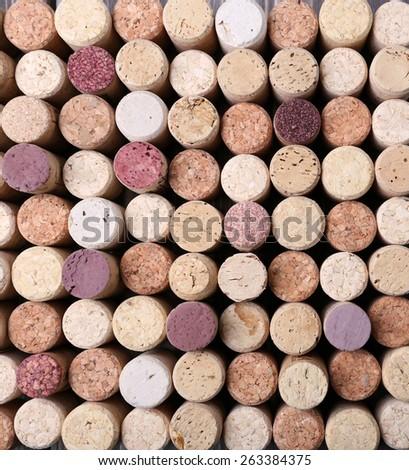 Wine corks background - stock photo