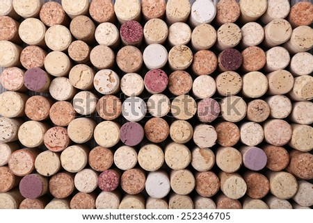 Wine corks close up - stock photo