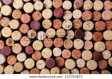Wine corks close up - stock photo