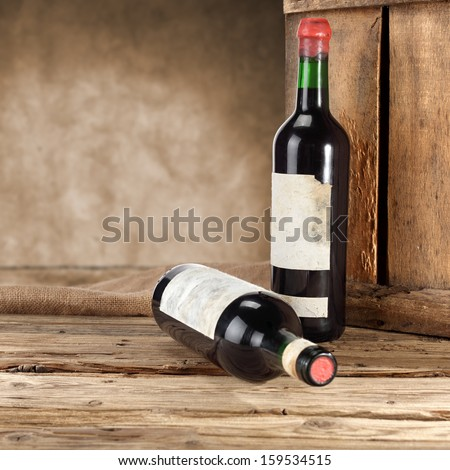 wine decoration  - stock photo