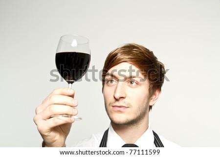 wine dresser - stock photo