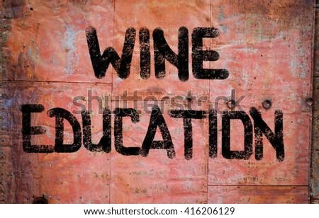 Wine Education Concept - stock photo
