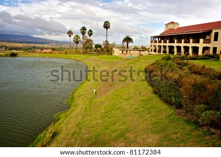 Wine farm in South Africa - stock photo