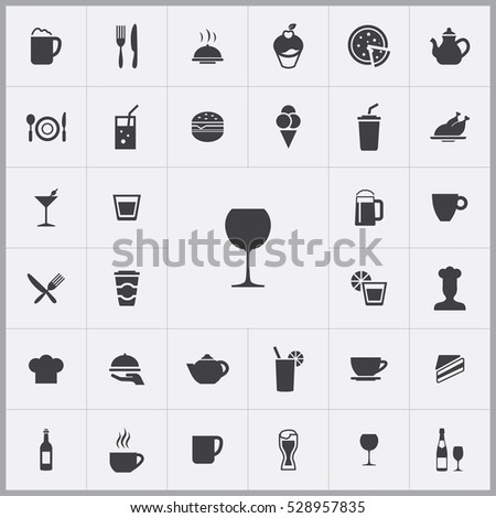 wine glass.cafe icons universal set for web and mobile