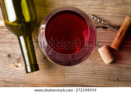 wine glass closeup - stock photo