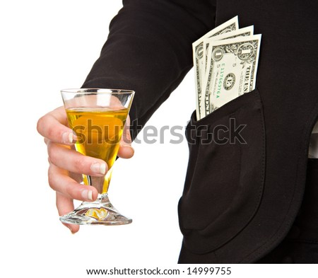 Wine glass for success/wealth - stock photo