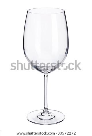 wine glass isolated - stock photo