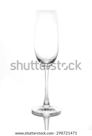 wine glass. isolated on a white background. - stock photo