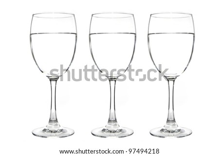 wine glass isolated on the white background - stock photo